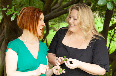 Childhood friends Bridget May, left (founder, CEO and in-house formulator) and Kim Howard, right (co-founder and COO) say Green Bee Botanicals has been lucky to attract enlightened, kind, conscientious consumers who want to learn and understand the medicinal and health benefits of cannabis and other plants. Photo by Elizabeth Glass