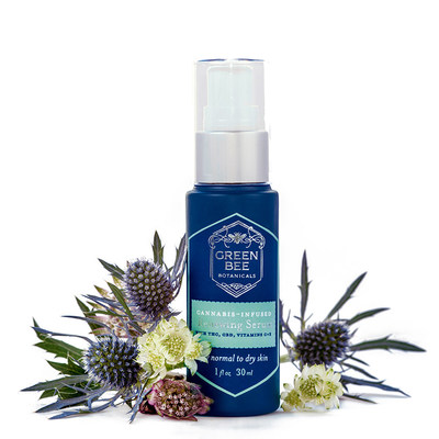 """Green Bee Botanicals' Renewing Face Serum won 1st place at the 2021 Emerald Cup Awards, the world-renowned """"Academy Awards of Cannabis."""" Photo by Pamela Palma"""
