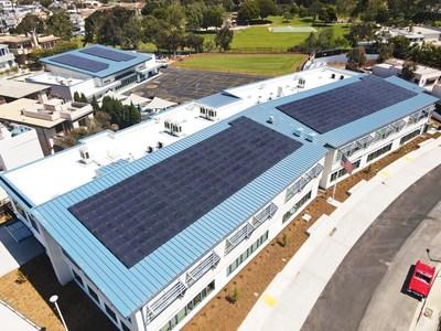 Aerial view of Hermosa Vista School in Hermosa Beach, CA, designed by SVA Architects. Photo courtesy SVA Architects.