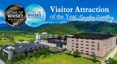 Kavalan Distillery gains 3rd 'Visitor Attraction of the Year' award by Icons of Whisky