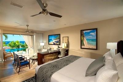 Swim up Bi-level 1 Br. Butler Suite w/ Patio Tranquility Soaking Tub at Sandals Grenada