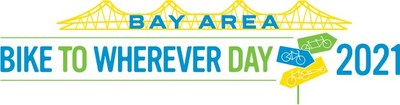 Bay Area Bike to Wherever Day 2021 logo (PRNewsfoto/Metropolitan Transportation Commission,Bayareabiketowork.com)
