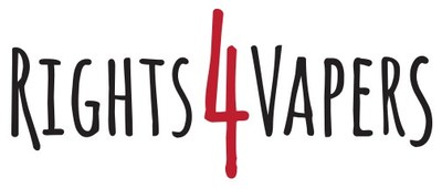 www.rights4vapers.com Logo (CNW Group/Rights 4 Vapers)