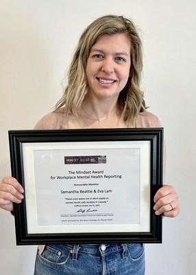 Samantha Beattie (CNW Group/Canadian Journalism Forum on Violence and Trauma)