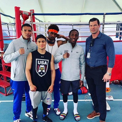 Pictured Here: Meenta's Chief Medical Officer, Kirk O'Donnell, MD, and athletes of the USA Boxing Team (Chula Vista, CA   April 2021)