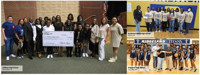 Hibbett and Nike present checks to High Schools in Alabama, Georgia and Mississippi. photo credit: Hibbett Sports