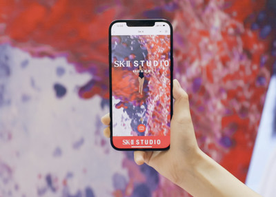 """Experience immersive AR and gamified skincare experiences at the SK-II """"Social Retail"""" Pop-Up Store in Hainan, China."""