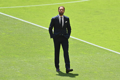 Gareth Southgate wears Percival Tailoring collection for the 2021 Euros (PRNewsfoto/Percival)