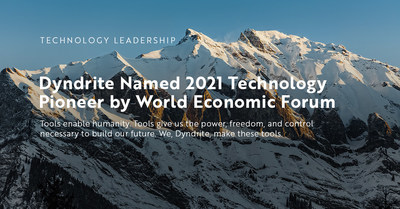 Dyndrite named 2021 Technology Pioneer by World Economic Forum
