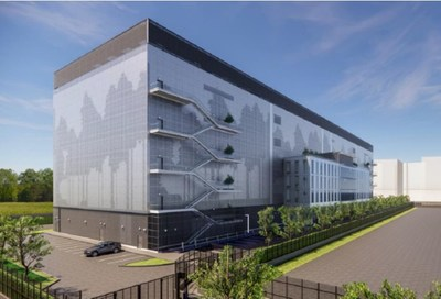 Rendering of one of the future xScale data centers in Paris
