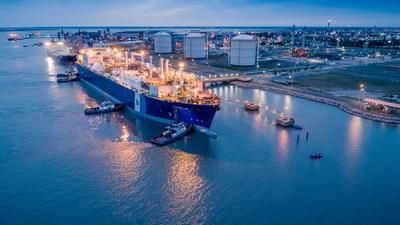 Excelerate Energy's FSRU Exemplar arriving at Bahía Blanca, Argentina on May 27, 2021.