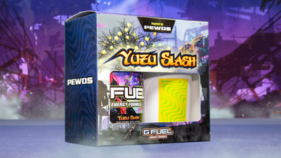 """G FUEL, The Official Energy Drink of Esports®, and Felix """"PewDiePie"""" Kjellberg, a famous Swedish gamer and the world's most popular YouTuber, launched a new """"Yuzu Slash"""" energy drink. Yuzu Slash is now available for sale in 40-serving tubs and limited-edition collectors boxes, which include one 40-serving Yuzu Slash tub and one 16 oz Yuzu Slash shaker cup, at gfuel.com."""
