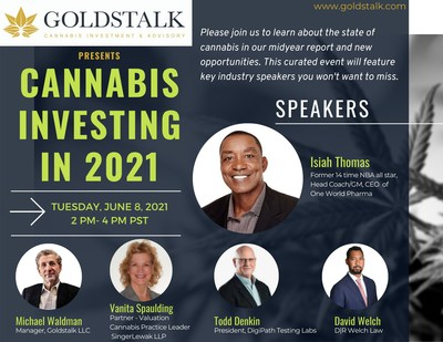 Goldstalk LLC to Host Webinar Event with Former NBA star Isiah Thomas and Other Cannabis Experts