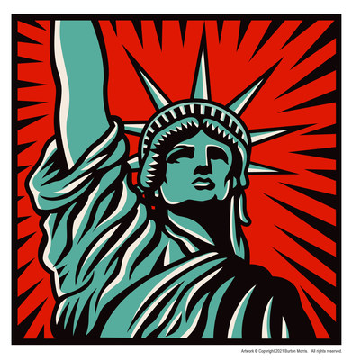 Burton Morris' Lady Liberty