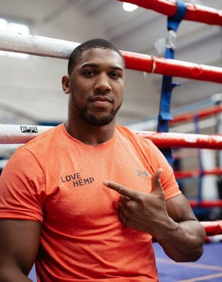 Anthony Joshua will become a brand ambassador and collaborate with Love Hemp on a range of CBD products for athletes.