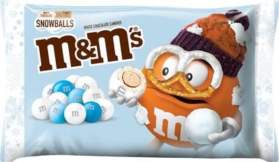 M&M'S White Chocolate Pretzel Snowballs