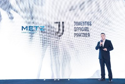 Leo Tang, Chief Brand Officer of METZ blue at the Press Conference