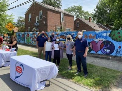 Representatives from Suburban Propane and Brilliant Detroit