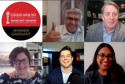 Some of the winners of the 28th Canadian Grand Prix New Product Awards receiving news of their win at the virtual Gala (CNW Group/Retail Council of Canada)